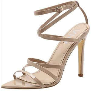 b0ab13dce46 Vivi Open Pointed Toe Nude Strappy Heels Sandals 8